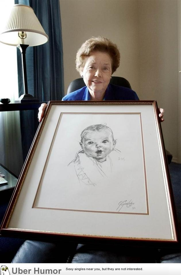 Gerber Baby turned 90 years old today Funny Pictures Quotes Pics