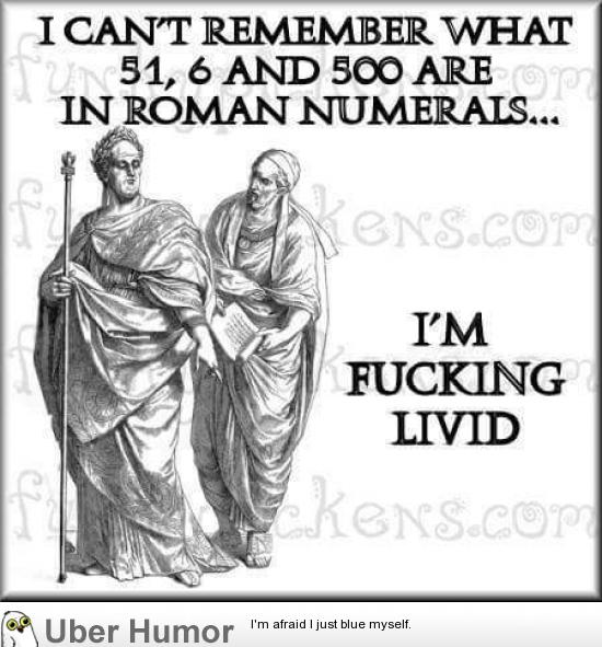 Image result for roman numerals funny