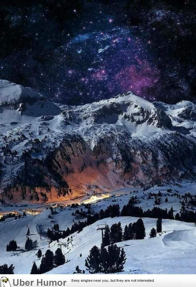 Swiss Alps At Night Switzerland Funny Pictures Quotes