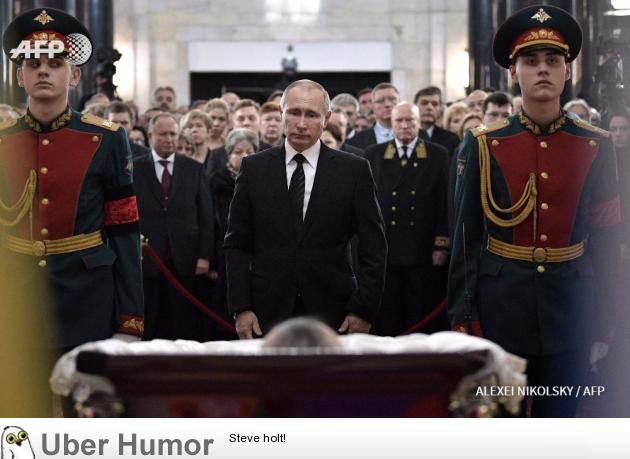 Vladimir Putin Staring At The Embassador S Corpse Funny Pictures Quotes Pics Photos Images Videos Of Really Very Cute Animals