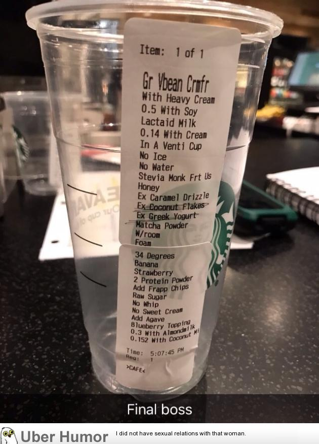 Friend that works at starbucks just sent me this. | Funny ...