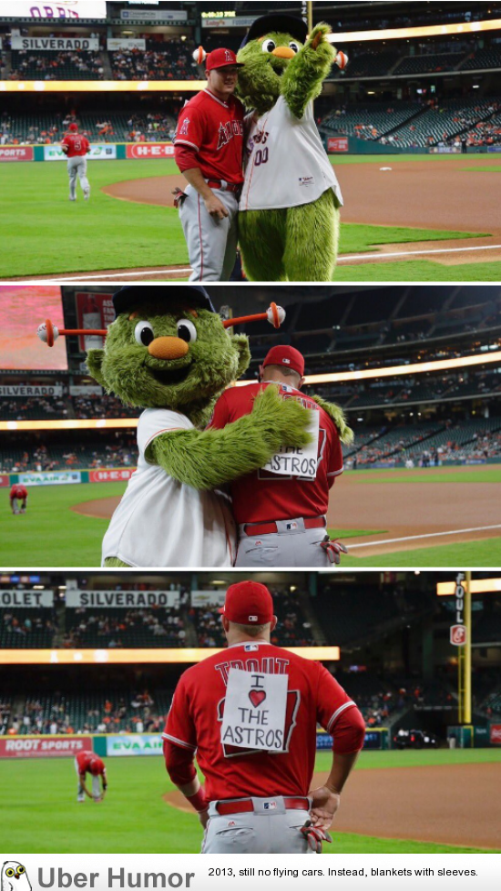 Astros Mascot >> Houston Astros Mascot Tricks Angels Mike Trout Funny