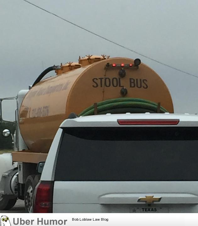 This sewage truck's self-description is a disgusting pun.