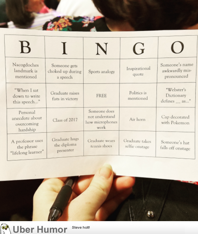 My Family Played Bingo During My Brothers Graduation To