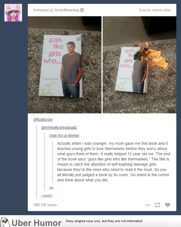 Facepalm Tumblr User Judges A Book By Its Cover Gets Told By