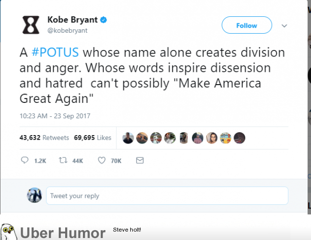 Kobe feels the need to chime in on Trump and Steph Curry situation
