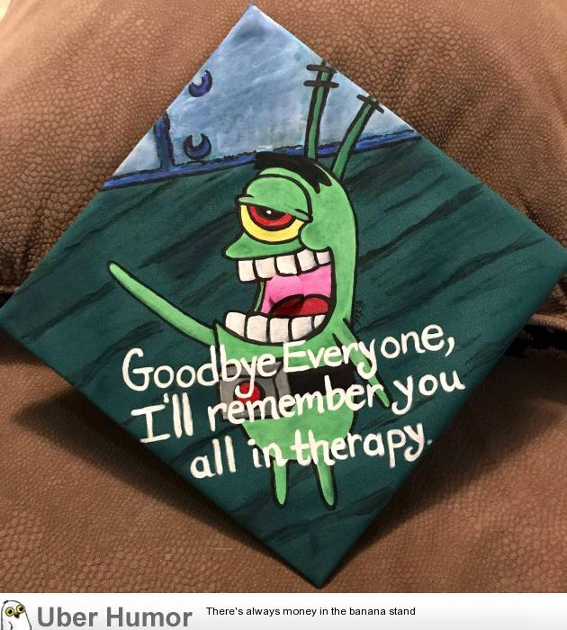 My painted graduation cap | Funny Pictures, Quotes, Pics ...
