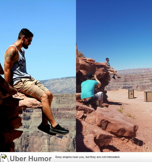 Grand Canyon Fake Out   Funny Pictures, Quotes, Pics, Photos ...