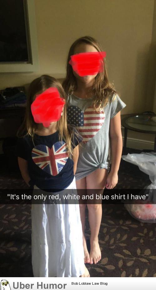 efb90957 My little sister's outfit for 4th of July dinner. | Funny Pictures ...