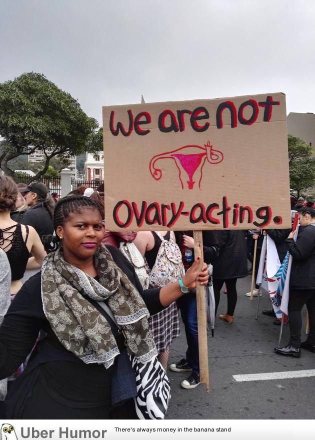 Best Sign At A Womens March In South Africa Funny