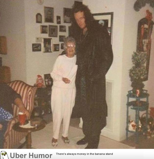 The Undertaker and his grandma – 1990s