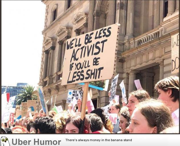 School Kids In Australia Are Protesting Climate Change Funny