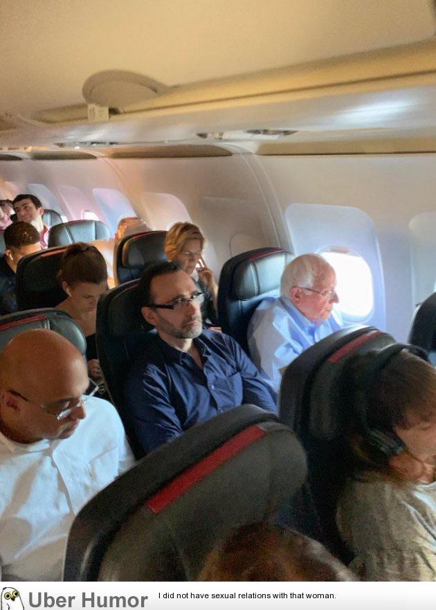 Bernie Sanders and Elizabeth Warren flying coach