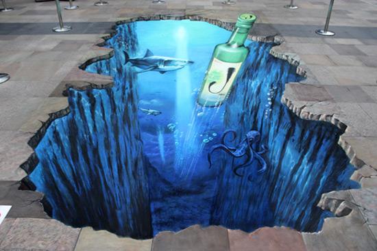 Jinro Korean drink 50 More Breathtaking 3d Street Art (paintings)