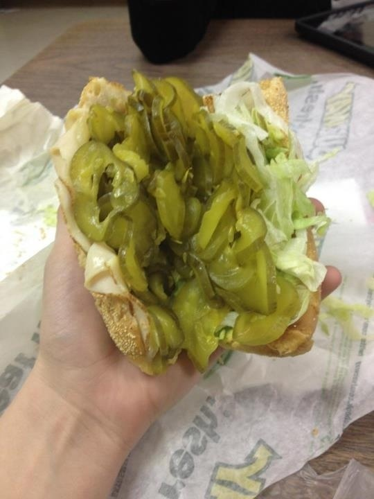 So I asked for extra pickles today at Subway….. | Funny ...
