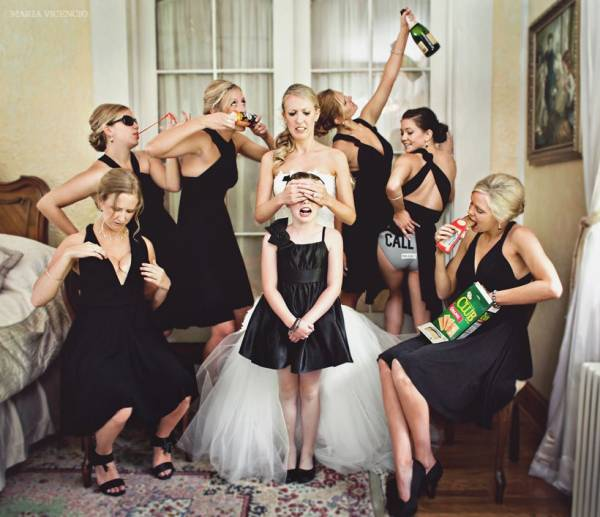 Possibly The Coolest Bridal Party Ever.. In The History Of