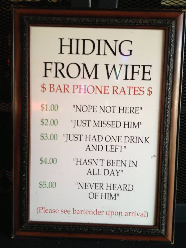 Funny Bar Quotes Saw this at my local bar | Funny Pictures, Quotes, Pics, Photos  Funny Bar Quotes