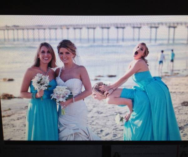 My Sister Cant Even Take A Normal Wedding Photo…