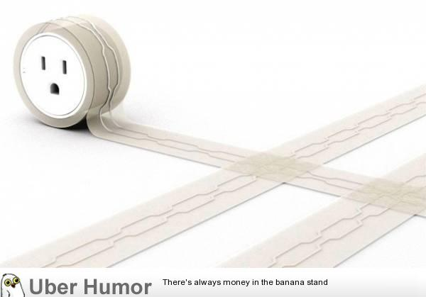 Flat Extension Cord For Under Your Rug I Want This