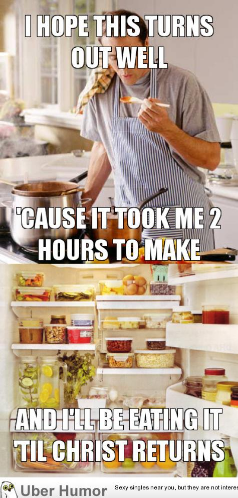 As a single guy, trying out a new recipe | Funny Pictures ...