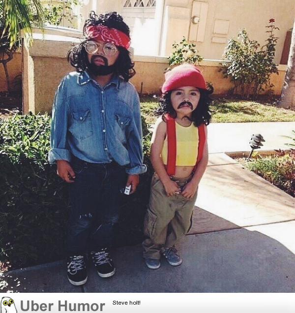 My friend\'s daughters last Halloween as Cheech and Chong ...