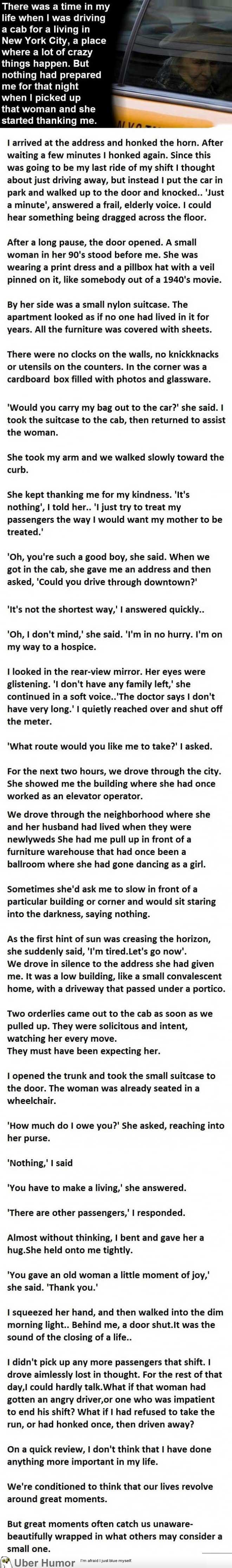 The Most Unexpected Cab Ride Ever. This Gave Me Goosebumps. | uberHumor.com