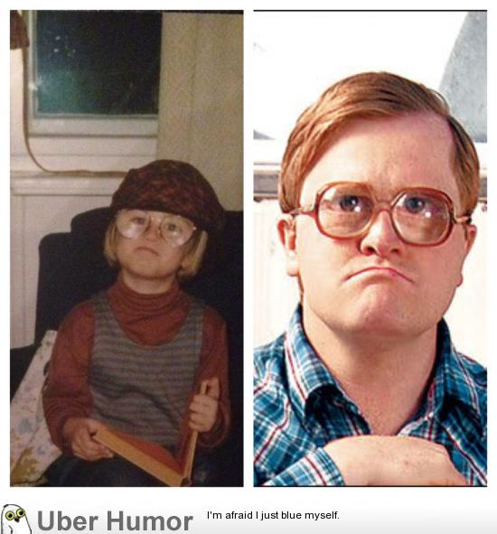 Apparently I bore a striking resemblance to Bubbles from ...