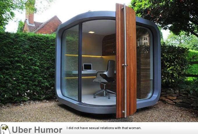 Back yard office for people working at home | Funny ...