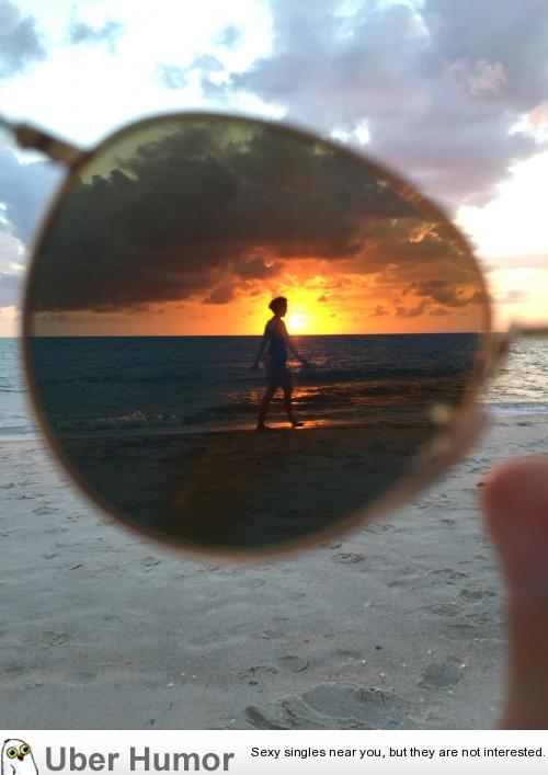 I took a picture through my sunglasses at the beach with my phone. It turned out better than I expected. | uberHumor.com