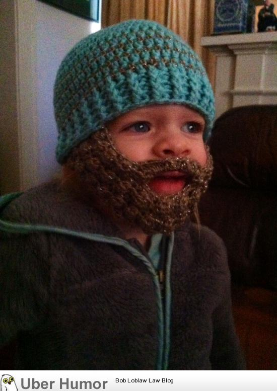 My daughter is fascinated with beards, and my mother is talented with crochet. So naturally….. | uberHumor.com