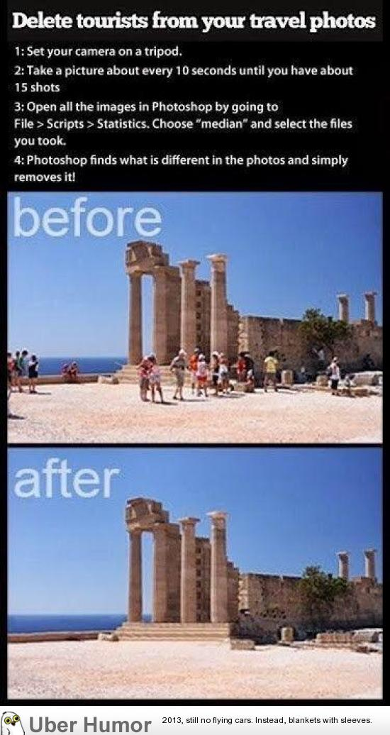 How to remove ALL tourists from your travel shots | uberHumor.com
