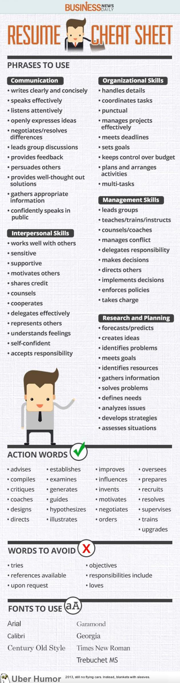 Resume Cheat Sheet Funny Pictures Quotes Pics Photos Images