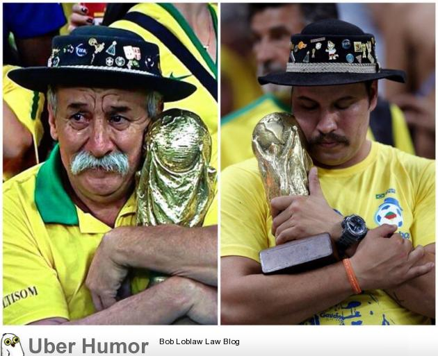 The man on the left went to 7 world cups, and died in 2015. His kids carried on his legacy this year. | uberHumor.com