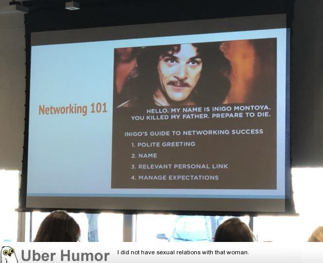 Good Networking Advice   uberHumor.com
