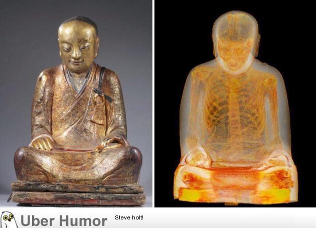 CT Scan of 1,000-year-old Buddha sculpture reveals mummified monk hidden inside | uberHumor.com