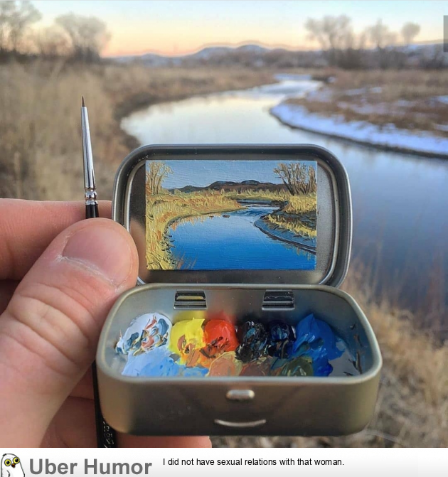 A 1-inch painting