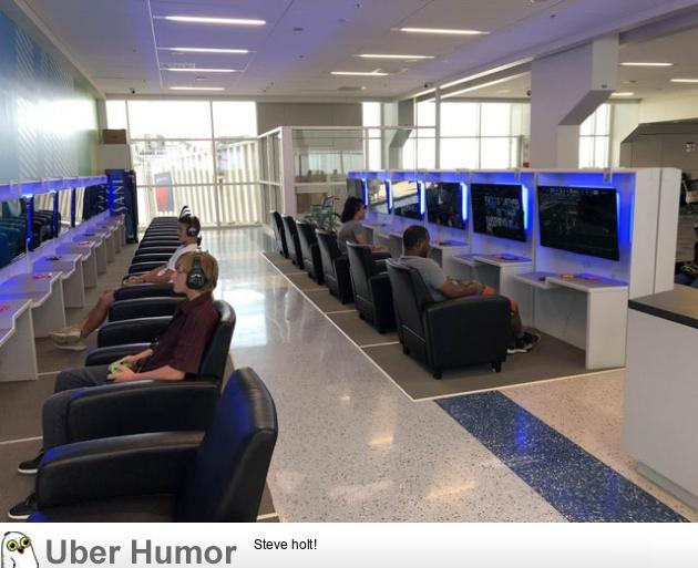 DFW Airport added a gaming lounge so you can game while you wait for your plane