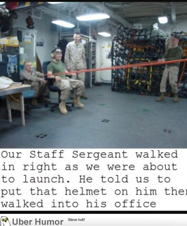 Bored Marines, Safety first.
