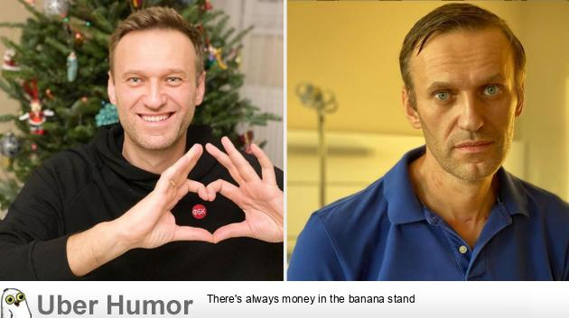 Russian opposition leader Alexei Navalny - before and ...